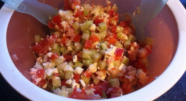 Kalorienarmer Griechischer Salat ohne Dressing